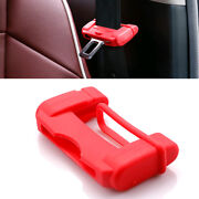4x Silicone Car Safety Seat Belt Buckle Cover Anti Scratch Clip Cover Accessory