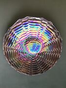 Multi-colored Art Glass Foil Backed Plate