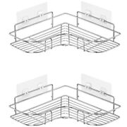 10x2-pack Corner Shower Caddy Stainless Steel Wide Space Shower Shelf With