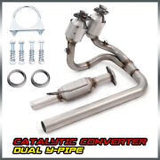 Fit For 2004-2006 Jeep Wrangler 4.0l Direct Replace Catalytic Converter Y-pipe