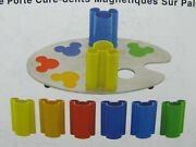 Mickey Mouse Shot Glass Set Ink And Paint Pallete Magnetic Tooth Pick Holders