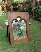 Antique Wooden Wall Hanging Window Vintage Wooden Ethnic Mirror Farmhouse