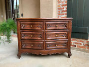 Antique French Carved Oak Commode Chest Of Drawers Louis Xv Cabinet Table