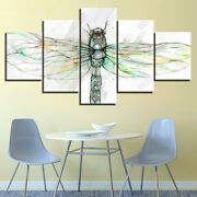 Abstract Colorful Dragonfly Insect Canvas Prints Painting Wall Art Home Decor 5p