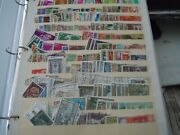 Spain Dealers Stock Album Of Mint @cacelled Postage Stamps