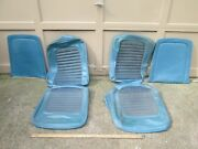 Vintage 1966 Shelby Gt 350 Mustang Seat Covers Blue With Seat Backs Oem Parts