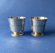Pair Of George Iii Solid Silver Goblets/beakers - 1799 - Chawner And Eames