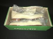 Womens Footjoy White Leather Saddle Golf Shoes Size 7.5 A W/ Steel Spikes