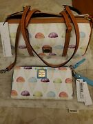 Dooney And Bourke Snow Cone Barrel Bag And Wallet. Nwt.