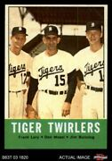 1963 Topps 218 Jim Bunning / Frank Lary / Don Mossi - Tiger Tw Tigers 8 - Nm/mt