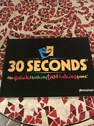 30 Seconds Quick Thinking Fast Talking Board Game-ages 15+-pressman