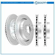 Front And Rear Discs Brake Rotors For Land Rover Lr4 2010 - 2012 Drill Slot