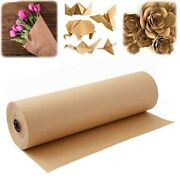 20x60 Meters Brown Kraft Wrapping Paper Roll For Wedding Birtay Party Gift