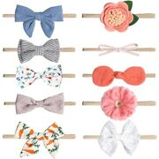 20xbaby Print Kted Bow Hair Band 10 Pieces / Set Of Childrenand039s Hair Accessories