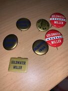 7 1960's Goldwater Campaign Pin Button Political Presidential Election