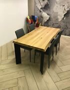 Table Fixed In Solid Wood Of Various Thicknesses And Measures