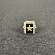 Vintage Order Of The Eastern Star Oes 14k Gold Women's Ladies Ring Size 4