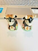 Vintage Ferdinand The Bull Salt And Pepper Shakers. Made In The Usa.
