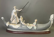 Lladro 1350 Titled In The Gondola Issued In A Numbered Series, 30 Long. Mint