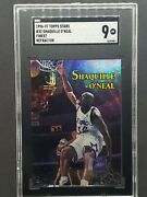 1996-97 Topps Stars Shaquille O'neal Refractor Sgc 9 Mint 32 - Magic Low Pop