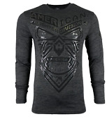 American Fighter Menand039s Long Sleeve T-shirt Decatur Athletic Biker Mma Xs-4xl