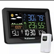 Weather Station Wireless Indoor Outdoor Thermometer W/ Atomic Clock X-large Tool