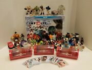 Huge Disney Infinity 1.0 Wii U Lot [all Figures Play Sets And Most Power Discs]
