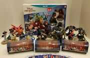 Huge Disney Infinity 2.0 Wii U Lot [many Figures Play Sets And Power Discs]