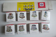 Set Of 8 The Americana Liberty Falls Collection And Wall Rack