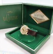 Lecoultre Wrist Alarm Manual Wind Gold Filled Case Snake Leather Menand039s Watch S-1