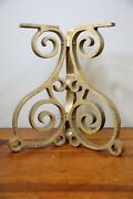 Antique Cast Iron Table Base Industrial Legs Island Coffee End Table Ornate Old