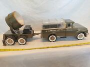 Vintage Strutco Us Army Troop Carrier And Searchlight Trailer Combination. Rare.