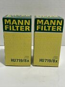 Mann Hu 719/8x Engine Oil Filter Hu719/8x Lot Of 2 For Ford And Volvo Cars