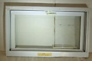 North Brunswic 31 3/4and039 X 18 3/4and039 Vinyl Hopper Window No Screen Used