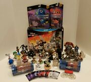 Huge Disney Infinity 3.0 Wii U Lot [many Figures Power Discs And Playsets]