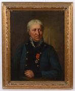 Retired General With Royal Order Of St.louis, French Oil Painting, Ca.1815