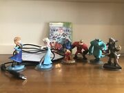 Disney Infinity Starter Pack Xbox 360 Bundle W/video Game, Figures And Portal Base