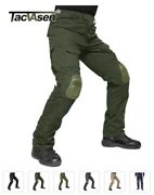 Tacvasen Military Army Pants For Men With Knee Pads Airsoft Tactical Cargo