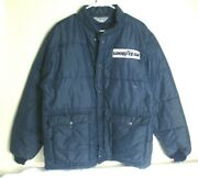 Vintage Swingster Goodyear Insulated Blue Puffer Jacket Coat Size X-large