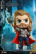Stock Hot Toys Cosb783 Cosbaby Thor W/hammer Bobble-head Figure Doll