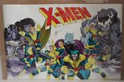 Marvel 1990 X Men 275 Poster Signed By Jim Lee And Chris Claremont Oop 34 X 22 Vf+