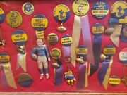 Vintage West Virginia Wvu Mountaineers Pinback/pin Set Antique Rare Collection19