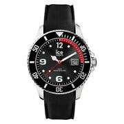 Ice Men's Watch Stainless Steel Silicone Band Black Dial Ic015773