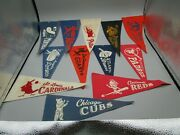 12 Small Pennants From 1960's Baseball