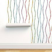 Removable Water-activated Wallpaper Rainbow Confetti Pride Sewing Unisex