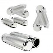Big Dog Polished Aluminum Grips Foot Pegs Passenger Pegs And Toe Pegs Combo Usa