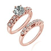 0.75 Carat Real White Diamond Beautiful Solitaire Fine Ring Band 14k Rose Gold