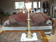 Rembrandt Lamp Company Vintage Hitching Pole Tall Brass Candle Stick Table Lamp