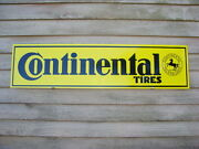 New And03960and039s Style Continental Tires 1and039x46 Metal Sign/ad -w/logo/garage Art