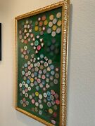 Rare Antique Casino Chip Collection. Beautifully Framed